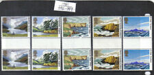 5 Mnh Great Britain England Scotland Scenes Stamps Gutter Pairs 945 - 949 1981