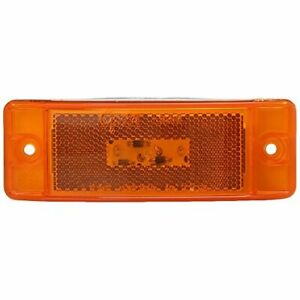 Grote G2103 Turtleback II LED Clearance Marker Light Yellow Color Rectangle