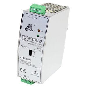 24 volt DIN Rail DC switch mode power supply 24V 5A 120W