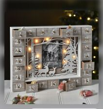 Our Family Advent Calender With Photo Frame And LED light Wooden