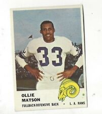 1961 Fleer Ollie Matson (HOF) Card #99 near mint (see scan)