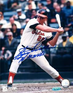 Tristar Boog Powell Autographed Signed INSCR 8x10 Photo Orioles TRB 492
