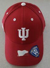 wholesale dealer 6e7f9 969cf New INDIANA HOOSIERS IU Adult Brim Hat Baseball Cap TOP OF THE WORLD  23517