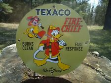 VINTAGE 1967 TEXACO FIRE CHIEF GASOLINE PORCELAIN GAS OIL SIGN! STATION
