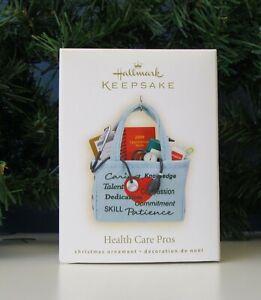 Hallmark Keepsake Ornament Health Care Pros 2009 Nurse Doctors Techs EUC