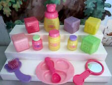 YOU & ME BaBy DoLL ACCeSSoRiES BLOCKS DiSH SPOON MiRRoR BRUSH LoT
