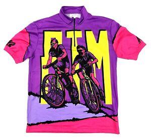 K2 MTB Men's Medium Vintage Purple Mountain Bike Cycling Jersey Shirt Polyester