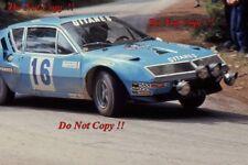 Jean Ragnotti Alpine-Renault A310 V6 RAC Rally 1976 Photograph 4