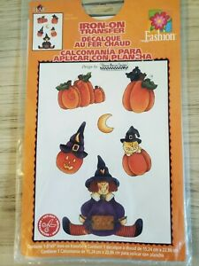 Vintage Adorable Halloween Witch Iron On Transfer by Dianna Marcum  2000 NOS
