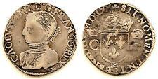 Francia-Charles IX (1560-1574) Teston 1565-H (La Rochelle). Plata 9,4 g. Escasa