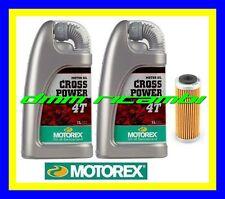 Kit Tagliando KTM 350 SX-F 11>12 Filtro Olio MOTOREX Cross Power 10W50 2011 2012