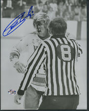 """GARY UNGER ST. LOUIS BLUES SIGNED """"BLOODY FACE"""" B&W 8X10 PHOTO W/COA"""