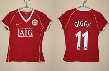 Women Manchester United MU 2006 2007 Giggs Nike Home Shirt Jersey Ladies Size L