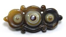 Unique Agate Natural Eye Stone - Rare Antique Pendant Must Collectible.G52-29 US