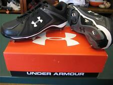 BRAND NEW UNDER ARMOUR IGNITE LOW ST BASEBALL SOFTBALL CLEAT SHOE  Size 10 BLACK