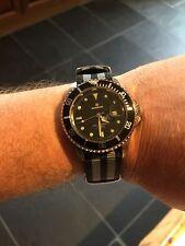 Caballeros Divers Watch-Bond homenaje-Correa de la OTAN-Vintage, con defectos