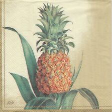 2 Serviettes en papier Ananas Fruit Decoupage Paper Napkins Pineapple