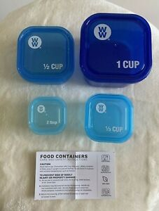 Weight Watchers Stackable Measuring Containers Cups Loss Fitness Portion Control