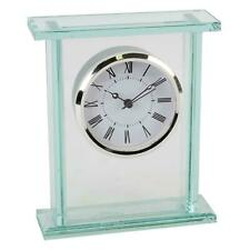 Glass Silver Bezel Mantel Clock By Widdop