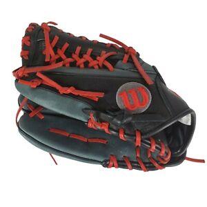 "New Wilson A1000 KP92 12.5"" Baseball Glove Grey/Red Left Hand Throw"