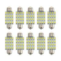 10pcs 39mm SMD 16-LED Festoon Dome Light Bulb White DE3423 6411 C5W N6V9