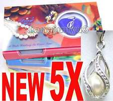 Wish Pearl 5 Box Drop Pendant Pearl Necklace for Women Chokers Love Pearl Oyster