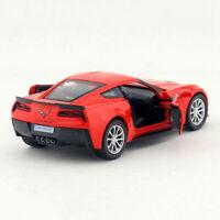 Chevrolet Corvette Grand Sport C7 1:36 Model Car Diecast Toy Vehicle Kids Red