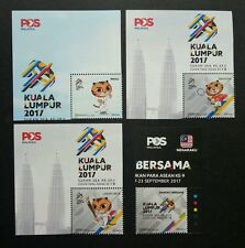 Malaysia 29th SEA Games 9th Para Asean 2017 Tiger Sport Kites (stamp logo) MNH