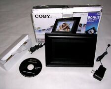 """Coby Digital (SD MMC MS) Photo Picture Viewer 7"""" Widescreen Display Frame Black"""