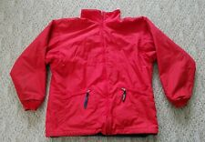 Patagonia Nylon Jacket Youth Size XL (14) Color Red with Gray Fleece Lined