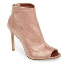 BADGLEY MISCHKA Women's MARGARITA BLSSAT PEEP TOE Ankle Boots Booties Size 10