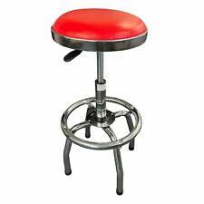 ADJUSTABLE RETRO BAR STOOL CUSHIONED ROTATING breakfast kitchen pub chair seat