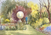 John A. Case - Set of Three Contemporary Watercolours, Garden Scenes