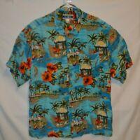 VTG OP Ocean Pacific Mens Rare Fiji Islands Short Sleeve Shirt Size X-Large