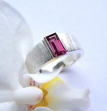UKM   Silber  Ring   W 57   Rhodolith   Granat   Rechteck   Baguette  10 x 3 mm