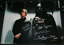 Mark Hamill James Earl Jones Bob Anderson Dave Prowse Star Wars Signed Autograph