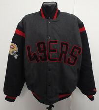 SAN FRANCISCO 49ERS JACKET REVERSIBLE WOOL SATIN NFL FOOTBALL NEW MENS LARGE