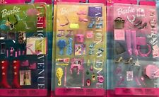 3 Mattel Barbie Fashion Avenue Fun Accessories 2002 NRFB