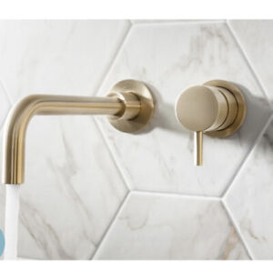 Crosswater MPRO Brushed Brass Gold Wall Mounted Basin Tap Fixed Spout 220mm BN