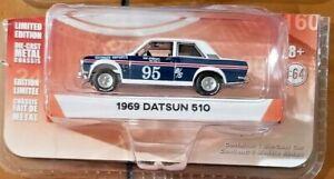 Greenlight 47020-A Tokyo Torque Series 4 1969 Datsun 510 #95 Bob Leitzinger 1:64