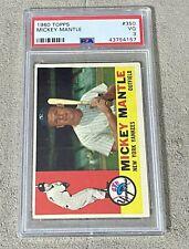 1960 Topps Mickey Mantle #350 Yankees PSA 3 VG