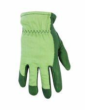 Custom Leathercraft 2255 Women's Top Grain Pigskin Leather Palm Gardening Gloves