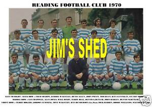 READING F.C. TEAM PRINT 1970
