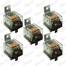 529 NEW RELAY 5 PIN 100 AMP 12V CAR AUTOMOTIVE TRUCK ALARM BULB SET 5 FIVE PCS