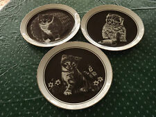 3 of 6 Collector Plates which comprise the Series entitled Kitten's World