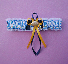 San Diego Chargers Fabric Wedding Garter Toss Football Charm Sport