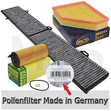 MANN Ölfilter SCT Luftfilter Pollenfilter BMW E90 E91 318d 143PS bis 01/2010