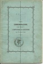 Curtatone e Montanara-Prima commemorazione dei morti...Mantova  1867