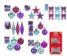 Bright Colour Xmas Tree Ornaments Hanging Baubles,Star,Heart,Drops Xmas Decor