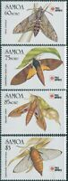 Samoa 1991 SG868-871 Moths PhilaNippon set MNH